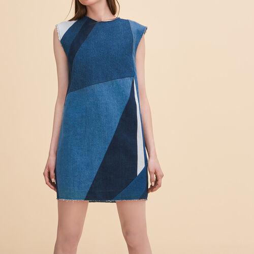 Denim three-hole dress - Dresses - MAJE