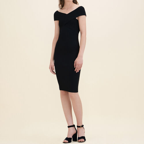 Ribbed knit sleeveless dress - Dresses - MAJE