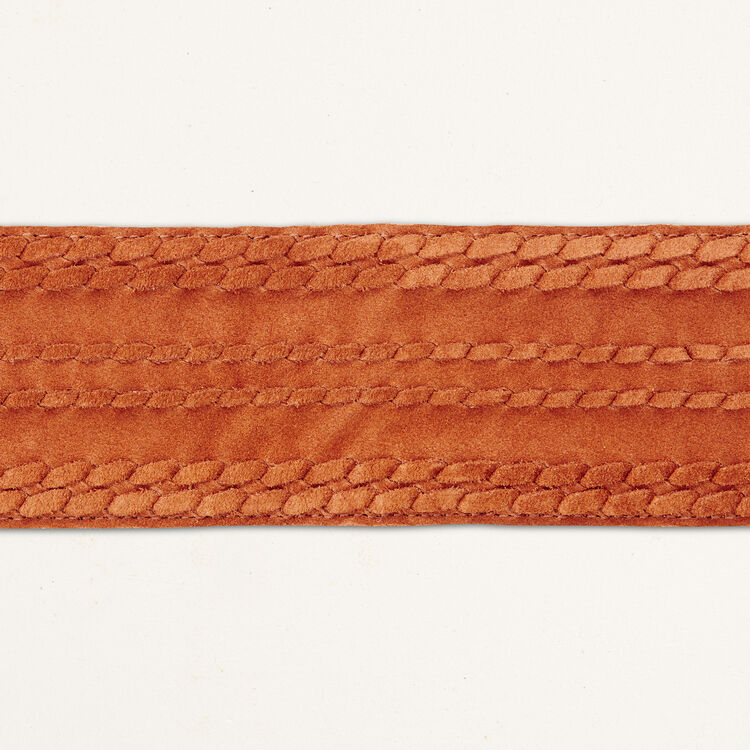 Large belt with suede fastening -  - MAJE