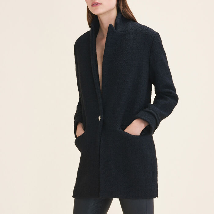 Mid-length tweed jacket -  - MAJE