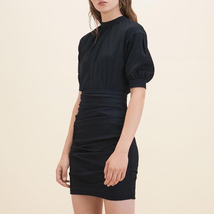 Draped crêpe dress -  - MAJE