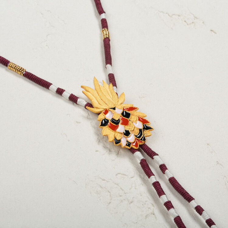 Long necklace with pineapple and tassels - Jewelry - MAJE