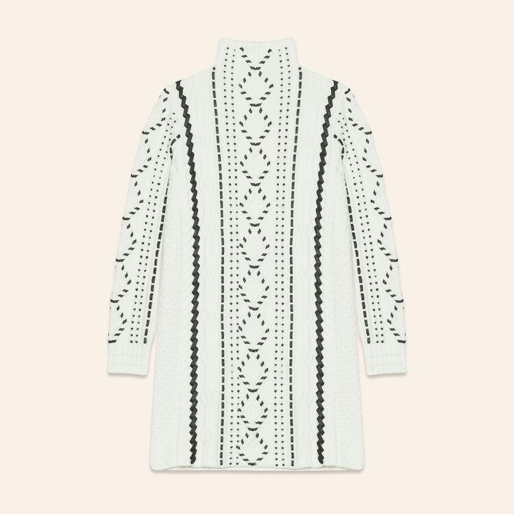 Cable knit dress - Knitwear - MAJE