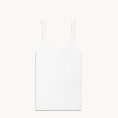 Ribbed knit vest top - Knitwear - MAJE