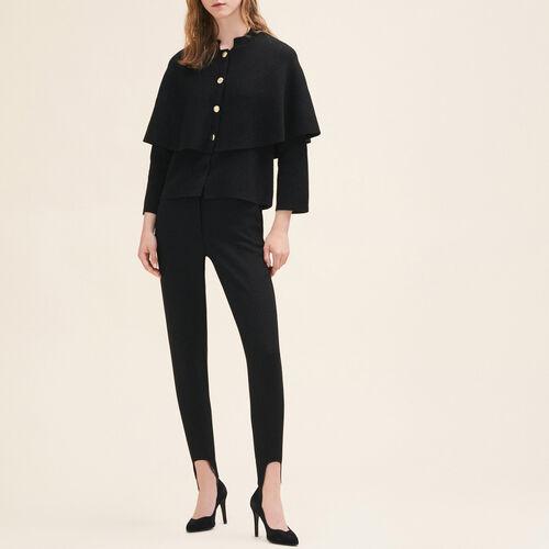 Short cape-style cardigan - Knitwear - MAJE