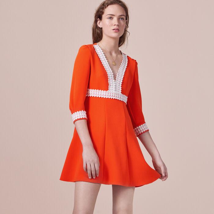 Short crepe dress -  - MAJE