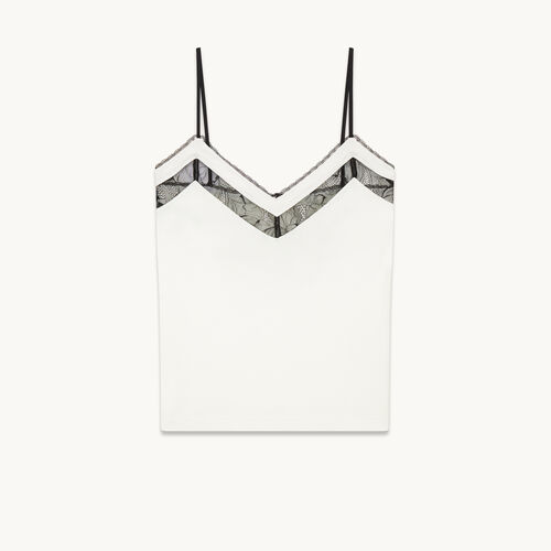 Camisole with lace - Tops - MAJE