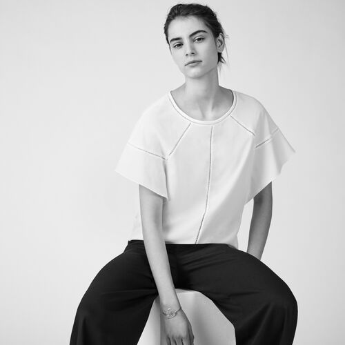 Loose cotton top - Tops - MAJE