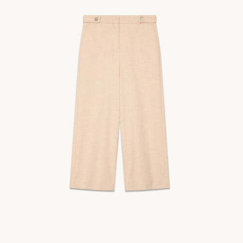 Wide cropped trousers - Trousers - MAJE
