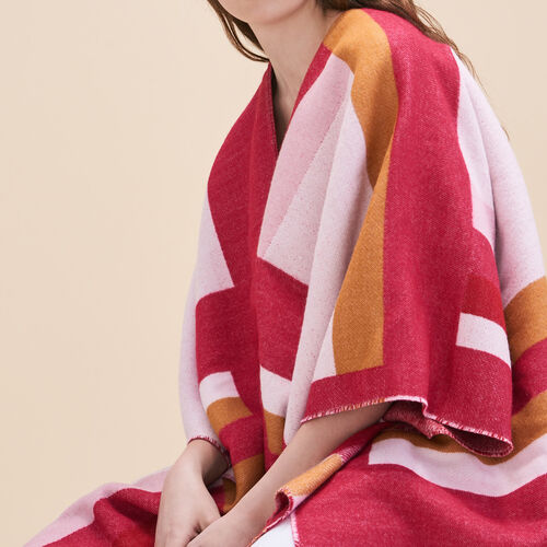 Long poncho with graphic print - See all - MAJE