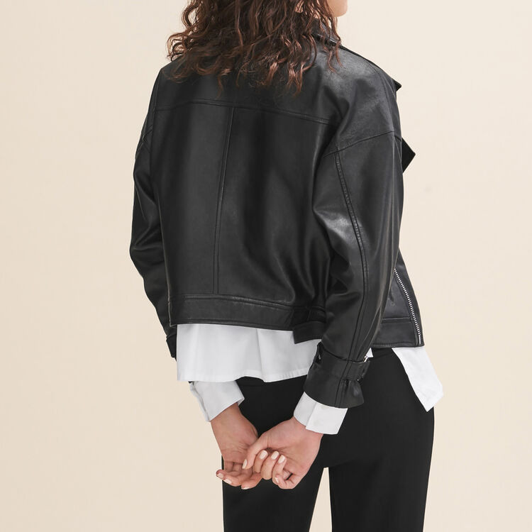 Fitted leather jacket - Jackets & Bombers - MAJE