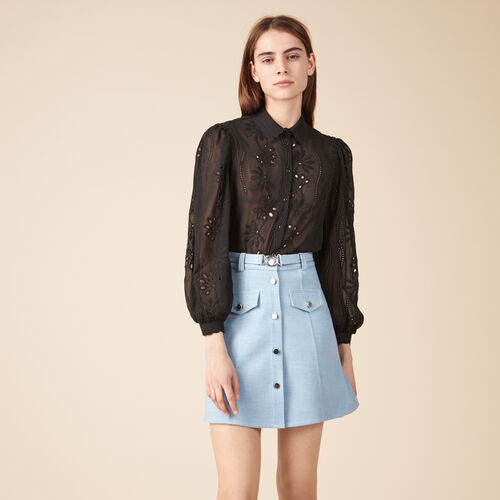 A-line skirt with belt - Skirts & Shorts - MAJE