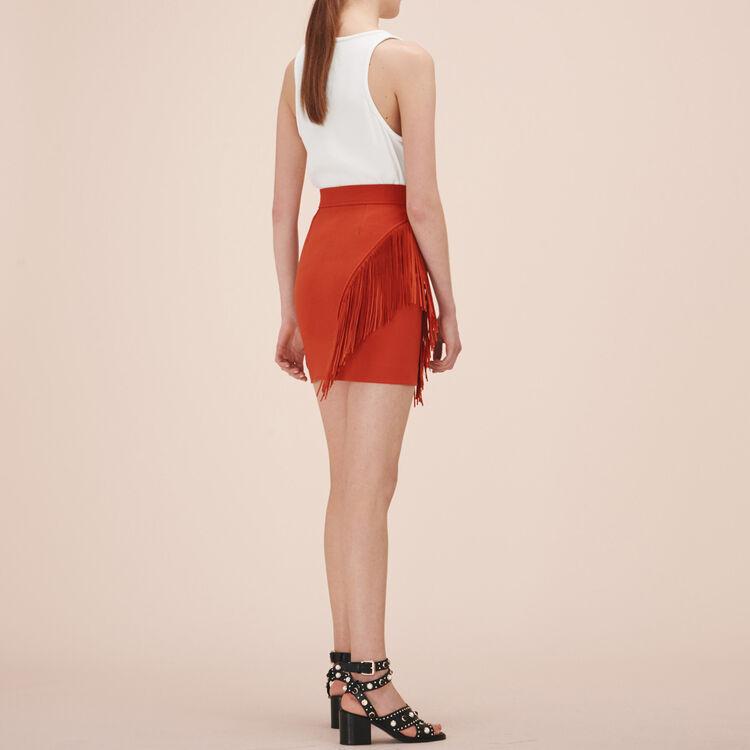 Fringed short skirt - Skirts & Shorts - MAJE