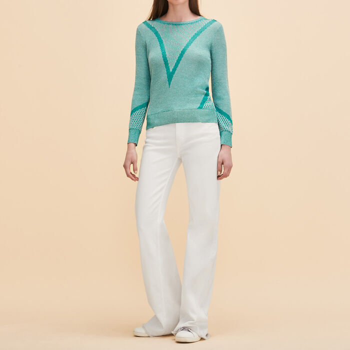Fine knit jumper with lurex -  - MAJE