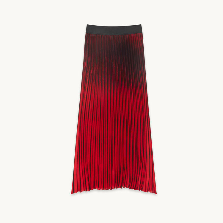 Long tie-dye effect pleated skirt - Skirts & Shorts - MAJE