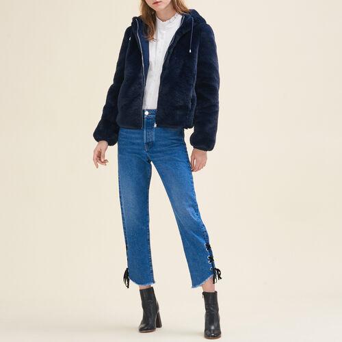 Cropped faux fur jacket - Jackets & Bombers - MAJE