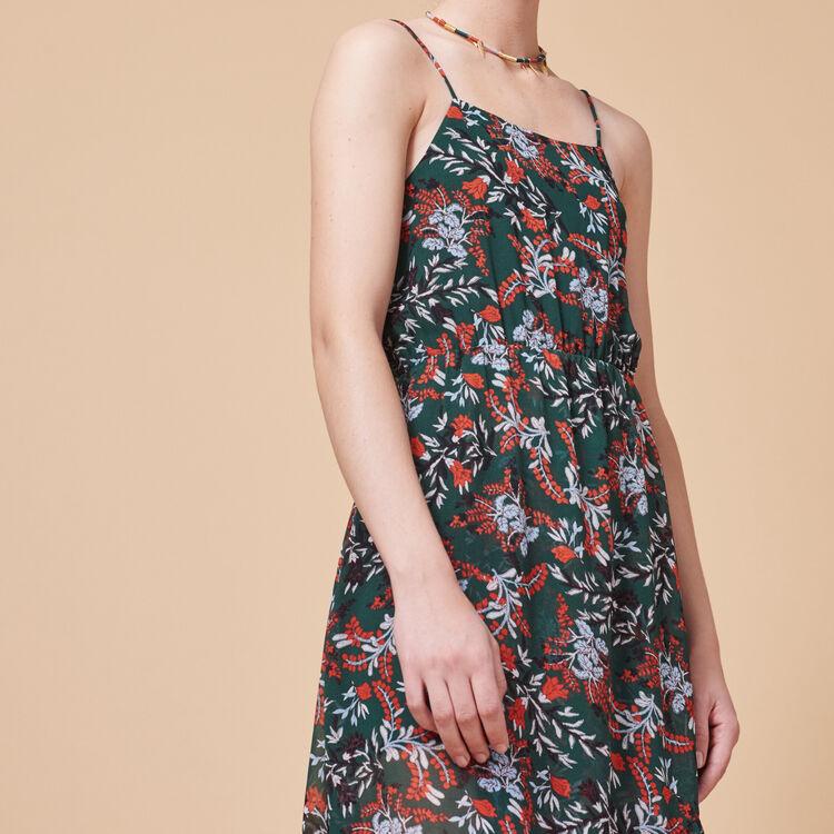 Long printed chiffon dress - Dresses - MAJE