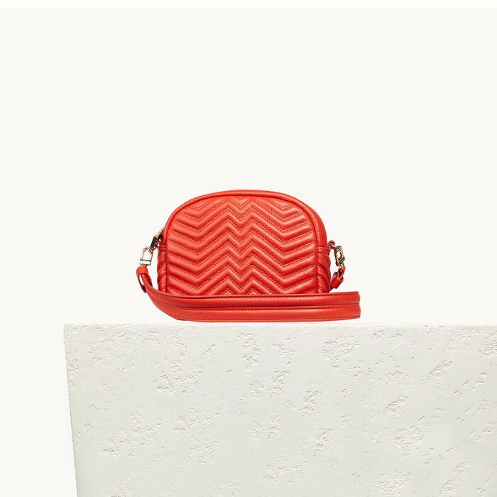 Round quilted leather bag - Shoulder bag - MAJE