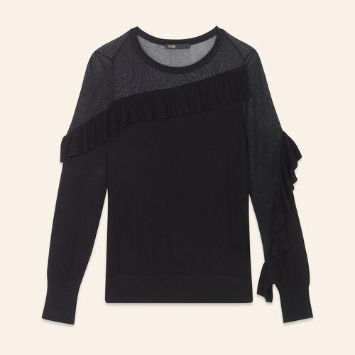 Fine jumper with frills - Knitwear - MAJE