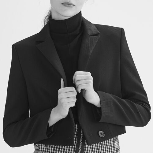 Short spencer-style jacket - Blazers - MAJE