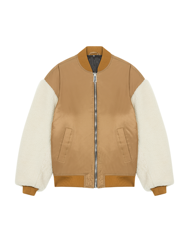 Sheepskin jacket - Jackets & Bombers - MAJE