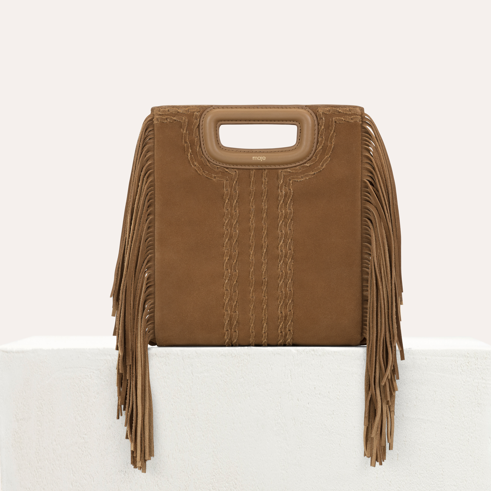 Maje MANOU M bag in braided suede