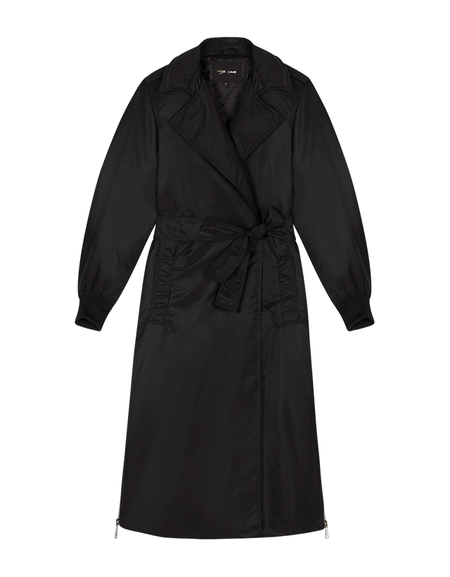 Trench coat with side zips - Coats - MAJE