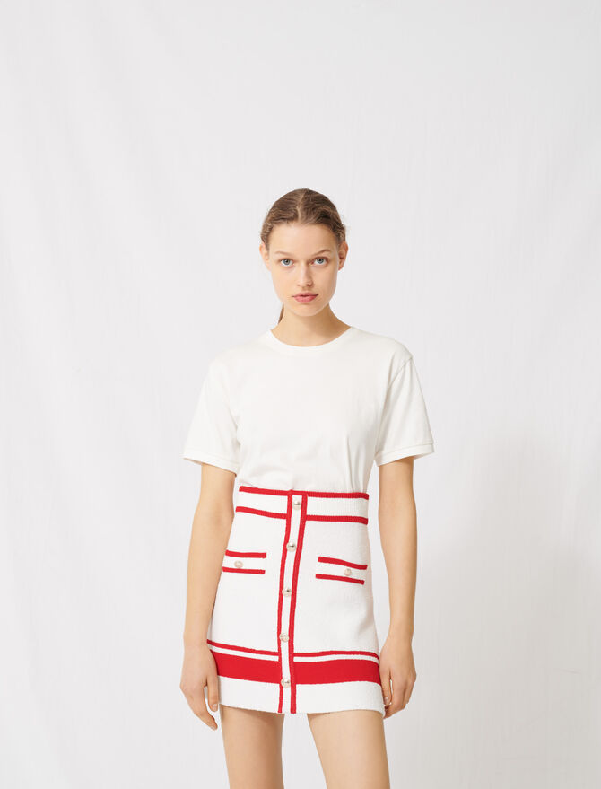 A-line skirt with gold buttons -  - MAJE
