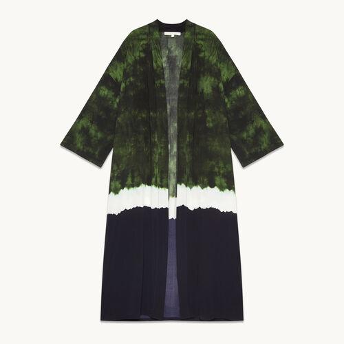 Tie-dye print kimono jacket - null - MAJE