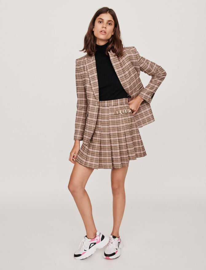 Pleated plaid kilt-style skirt - -30% - MAJE