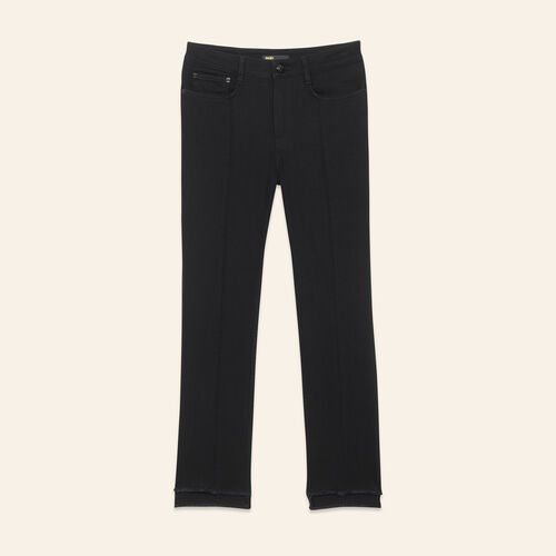 Straight-cut jeans with asymmetric hem : Jeans color Black 210