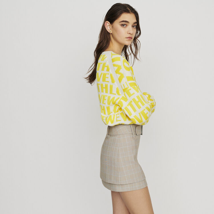 Belted checked short skirt : New in : Summer Collection color CARREAUX