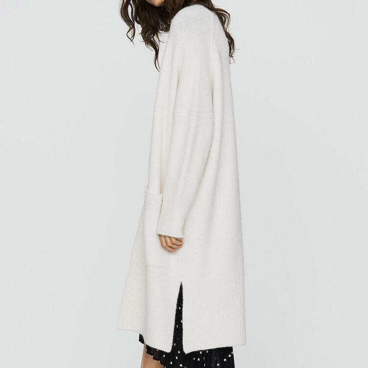 Long oversized cardigan : Knitwear color ECRU