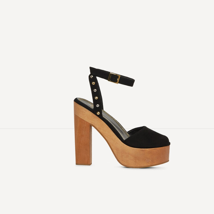 Sandals with wooden heels - See all - MAJE