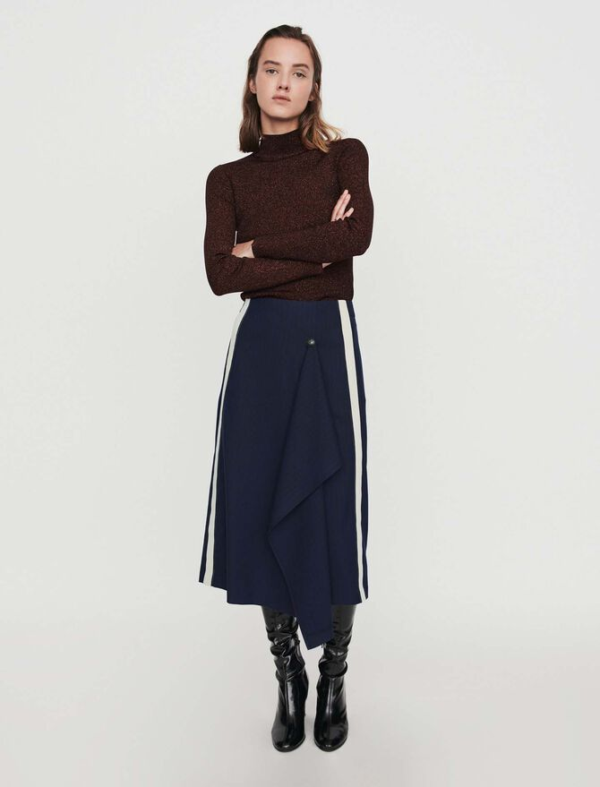 Skirt with racing stripes -  - MAJE