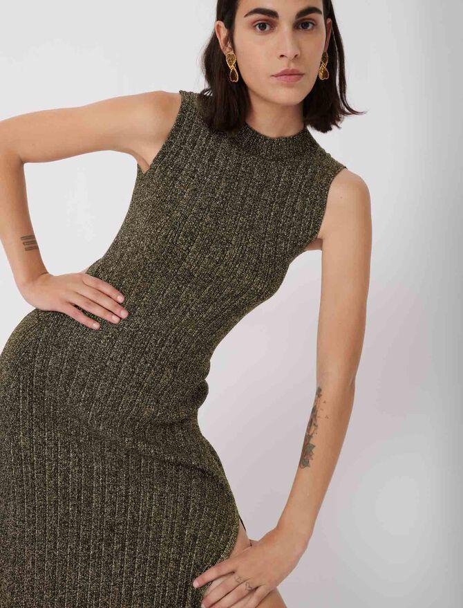 Lurex knit dress - New collection - MAJE