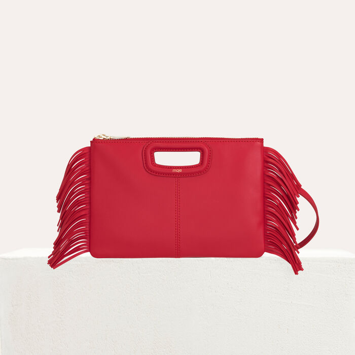 M Duo purse in leather : M Duo color Red