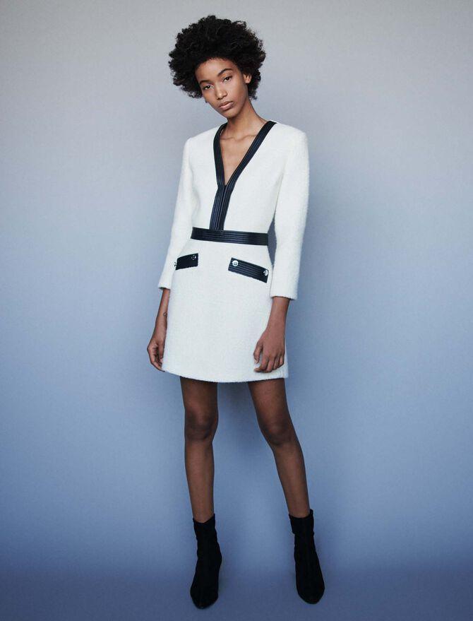 Tweed-like contrast dress - Best Sellers - MAJE