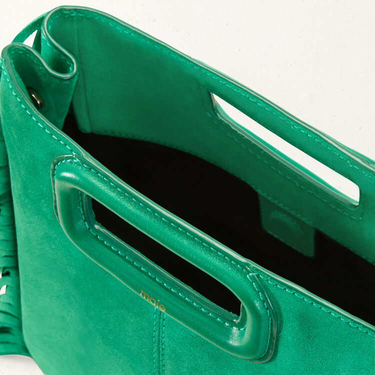 Suede M bag : M bags color Emerald