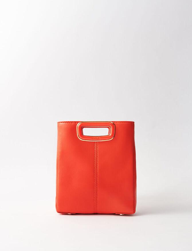 Leather mini M bag - M Skin - MAJE