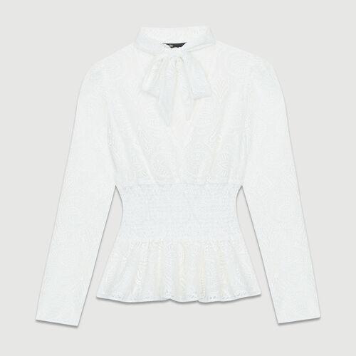 Lace top : Tops color Ecru