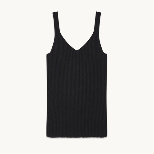 Ribbed knit vest top - null - MAJE