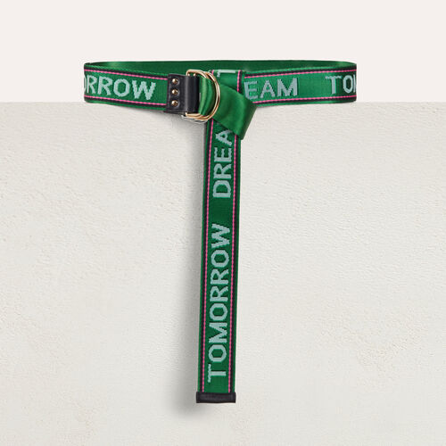 """Dream Tomorrow"" cinch waistbelt : Belts color Green"