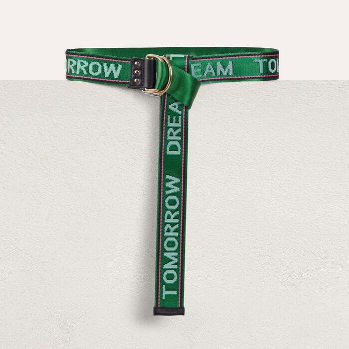 """""""Dream Tomorrow"""" cinch waistbelt : Belts color Green"""