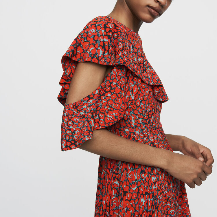 Asymmetric sleevless dress : Ready to wear color Print
