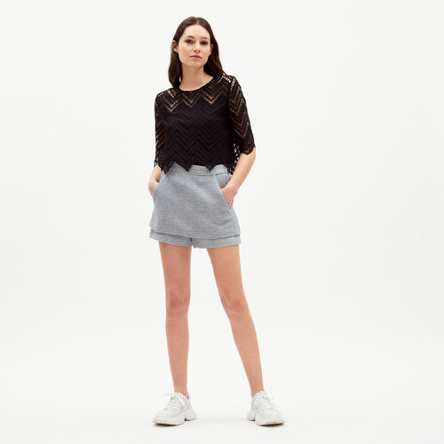 Illusion skort : Skirts & Shorts color Jacquard