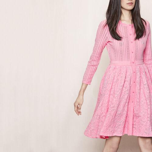 Stretch lace dress : Dresses color Ecru