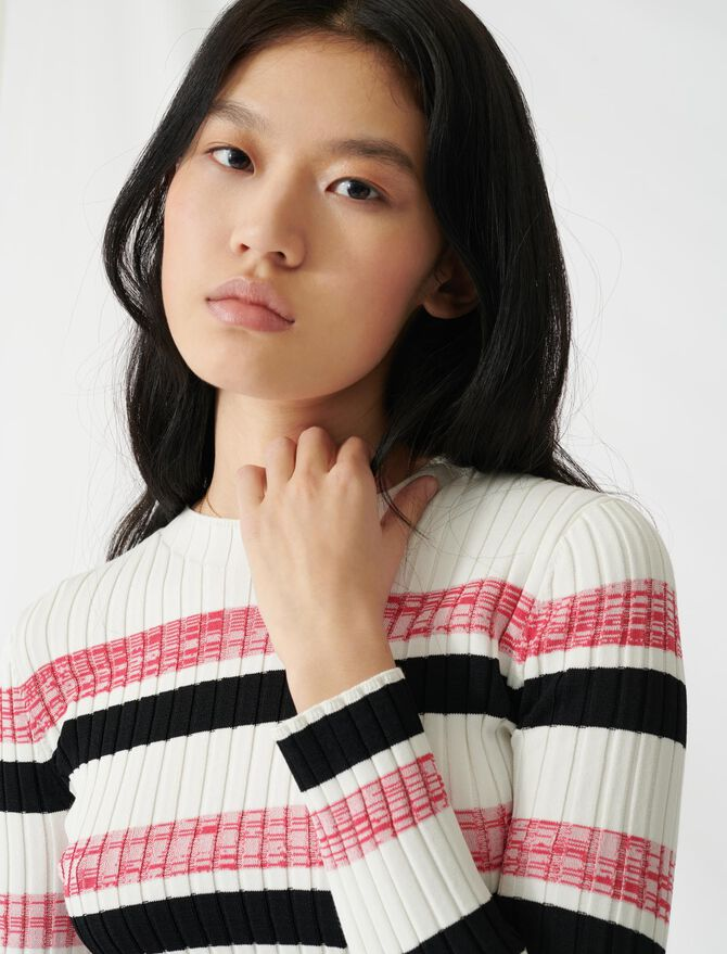 Striped ribbed knit jumper - All the collection - MAJE