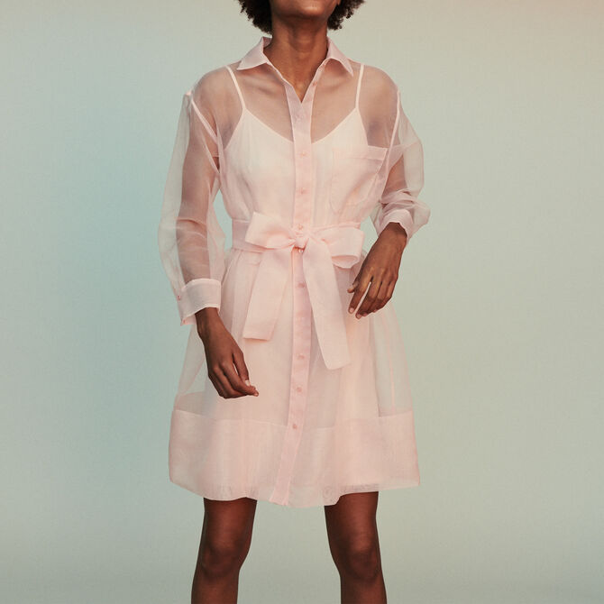 Organza shirt dress - See all - MAJE