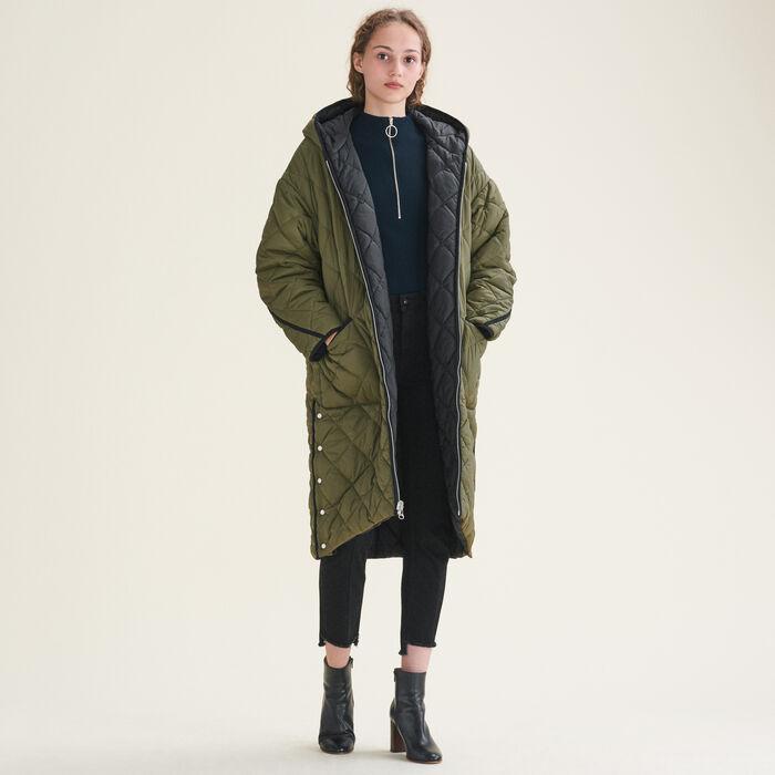 Long checked coat - Coats - MAJE